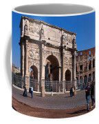 The Arch Of Constantine And Colosseum Coffee Mug