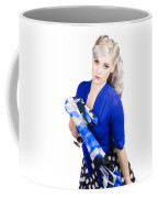 The Classic Pin-up Image. Girl In Retro Style Coffee Mug