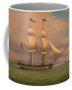 The English Brig Norval Before The Wind Coffee Mug