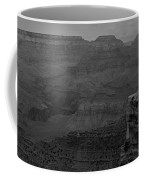 The Grand Canyon In Black And White Coffee Mug