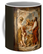 The Israelites Gathering Manna In The Desert Coffee Mug