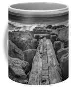 The Jetty In Black And White Coffee Mug