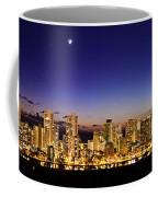 The Moon And Venus Over Honolulu Coffee Mug