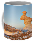 The Rabbit Stone Formation In White Desert Coffee Mug