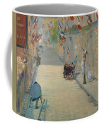 The Rue Mosnier With Flags Coffee Mug