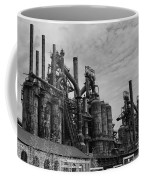 The Steel Mill In Black And White Coffee Mug