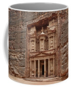 the treasury Nabataean ancient town Petra Coffee Mug