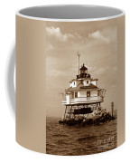 Thomas Point Shoal Lighthouse Sepia No. 2 Coffee Mug