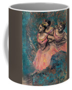 Three Dancers In Red Costume Coffee Mug