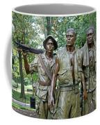 Three Soldiers Statue Coffee Mug