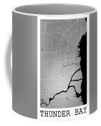 Thunder Bay Street Map - Thunder Bay Canada Road Map Art On Colo Coffee Mug