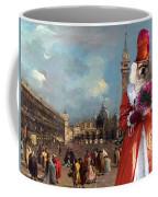 Tibetan Spaniel Art Canvas Print  Coffee Mug
