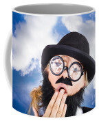 Tired Man With Day Sleeping With Insomnia Coffee Mug
