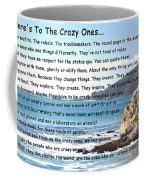 To The Crazy Ones Coffee Mug