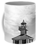 Top Of The New Canal Lighthouse - Bw Coffee Mug