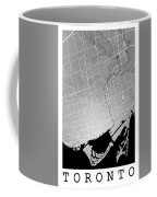 Toronto Street Map - Toronto Canada Road Map Art On Colored Back Coffee Mug