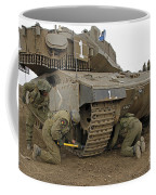 Track Replacement On A Israel Defense Coffee Mug by Ofer Zidon