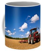 Tractor In Plowed Field Coffee Mug