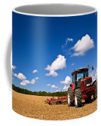 Tractor In Plowed Field Coffee Mug