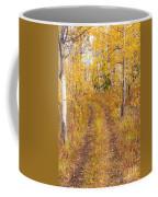 Trail In Golden Aspen Forest Coffee Mug