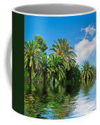 Tropical Exotic Jungle And Water Coffee Mug