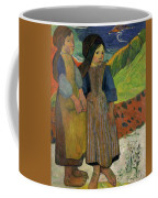 Two Breton Girls By The Sea Coffee Mug