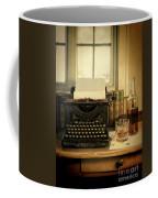 Typewriter And Whiskey Coffee Mug