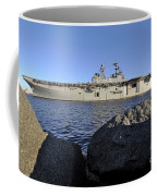 Uss Bataan Arrives At Naval Station Coffee Mug