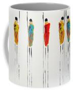 Vibrant Masai Warriors - Original Artwork Coffee Mug