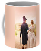 Victorian Couple Walking Towards A Country Estate Coffee Mug
