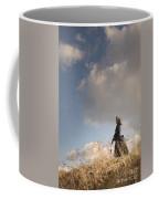 Victorian Or Edwardian Woman Alone In A Sunny Meadow Coffee Mug