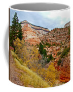 View Along East Side Of Zion-mount Carmel Highway In Zion National Park-utah   Coffee Mug
