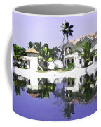 View Of The Cottages And Lagoon Water In Alleppey Coffee Mug