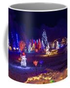 Village In Christmas Lights Panoramic View Coffee Mug