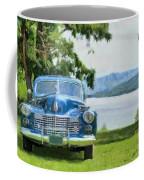 Vintage Blue Caddy At Lake George New York Coffee Mug