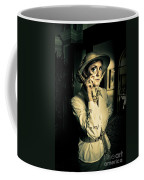 Vintage Explorer With Magnifying Glass Coffee Mug