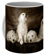 Vintage Festive Puppies Coffee Mug by Angel  Tarantella