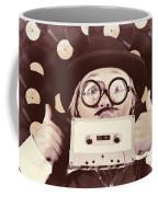 Vintage Music Woman Giving Thumb Up To Retro Songs Coffee Mug