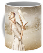 Vintage Woman Dreaming Of A Europe Travel Escape Coffee Mug