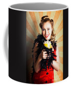 Vintage Woman Eating Popcorn At Movie Premiere Coffee Mug
