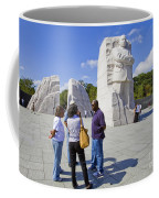 Visitors At The Martin Luther King Jr Memorial Coffee Mug