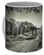 walking in the Alps - bw Coffee Mug
