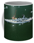 War Ship In New York Harbor, New York Coffee Mug