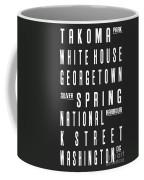 Washington City Subway Sign Coffee Mug