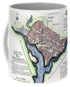 Washington, Dc, Plan, 1792 Coffee Mug