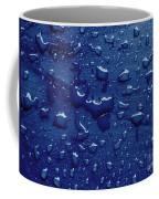 Water Drops On Metallic Surface Coffee Mug