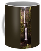 Waterfall In A Forest, Multnomah Falls Coffee Mug