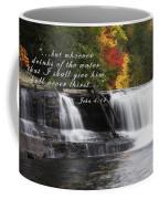Waterfall With Scripture Coffee Mug