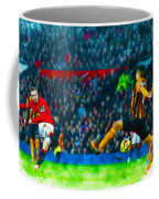 Wayne Rooney Of Manchester United Scores Their Second Goal Coffee Mug