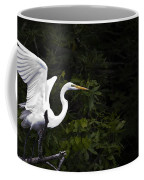 White Egret's Takeoff Coffee Mug